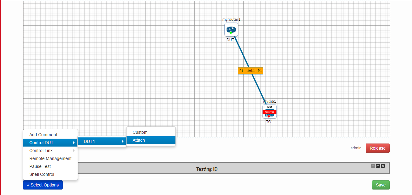Adding test options for network topology